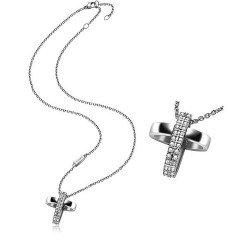 Buy Breil Women's Necklace Charming Cross TJ1460