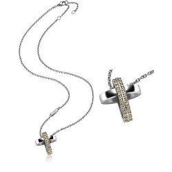 Breil Women's Necklace Charming Cross TJ1461