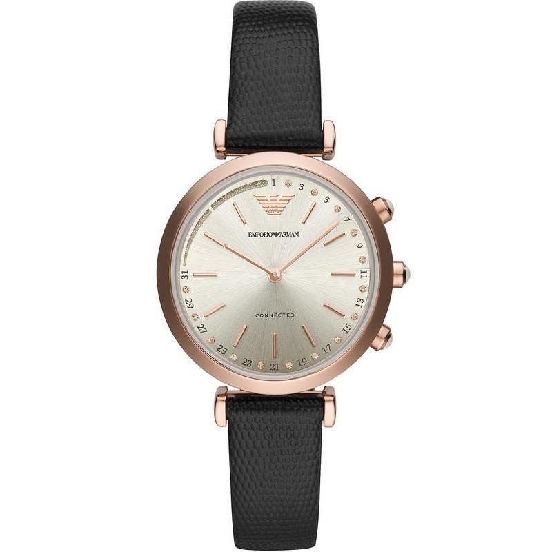 86df8fc2b Emporio Armani Connected Women's Watch Gianni T-Bar ART3027 Hybrid  Smartwatch