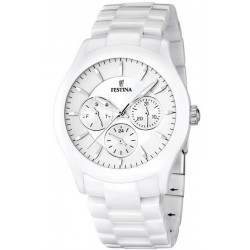 Festina Men's Watch Ceramic F16639/1 Quartz Multifunction