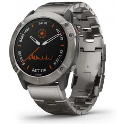 Buy Garmin Mens Watch Fēnix 6X Pro Solar Titanium 010-02157-24