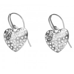 Guess Women's Earrings Glossy Hearts UBE51433