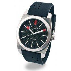 Locman Men's Watch Stealth Quartz 020100CBFRD1GOK