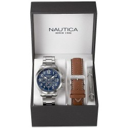 Nautica Men's Watch NCC 01 Box Set NAI18509G Chronograph
