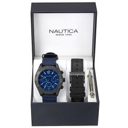 Nautica Men's Watch NST 402 Box Set NAI22508G Chronograph