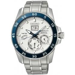 Seiko Men's Watch Sportura Kinetic Perpetual SNP085P1 Multifunction