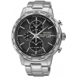 Seiko Men's Watch SPL049P1 World Time Chronograph Alarm Quartz