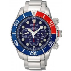Seiko Men's Watch Prospex Chronograph Diver's 200M Solar SSC019P1