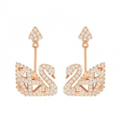 Swarovski Women's Earrings Facet Swan 5358058