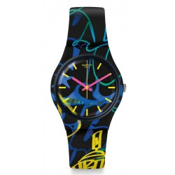 Buy Swatch Unisex Watch Gent Nightclub GB318