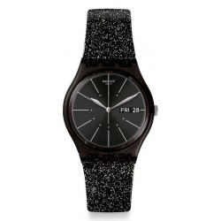 Swatch Women's Watch Gent Glitternoir GB755