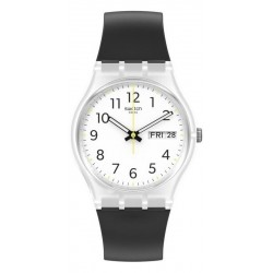 Swatch Unisex Watch Gent Rinse Repeat Black GE726