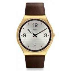 Swatch Men's Watch Skin Irony Skin Suit Coffee SS07G100