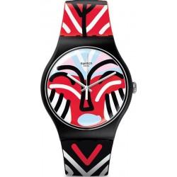Swatch Unisex Watch New Gent Mask Parade SUOB127