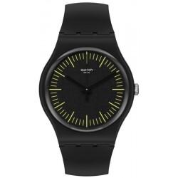 Swatch Unisex Watch New Gent Blacknyellow SUOB184