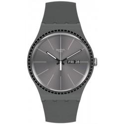 Swatch Unisex Watch New Gent Grey Rails SUOM709