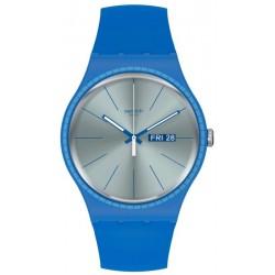 Swatch Unisex Watch New Gent Blue Rails SUON714
