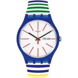 Swatch Unisex Watch New Gent Home Stripe Home SUON715