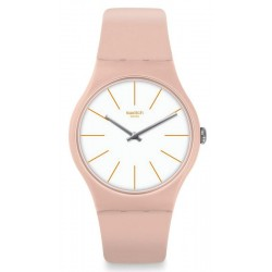 Swatch Women's Watch New Gent Beigesounds SUOT102