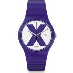 Swatch Unisex Watch New Gent XX-Rated Purple SUOV401