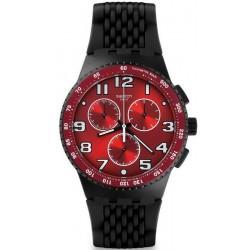 Swatch Men's Watch Chrono Plastic Testa di Toro SUSB101