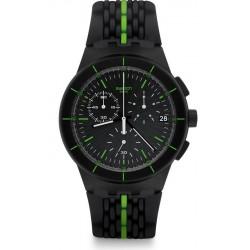 Buy Swatch Men's Watch Chrono Plastic Laser Track SUSB409