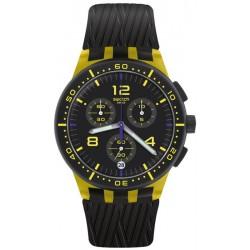 Swatch Unisex Watch Chrono Plastic Yellow Tire SUSJ403