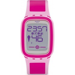 Buy Swatch Women's Watch Digital Touch Zero One Pinkzero SUVP100