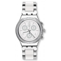 Swatch Unisex Watch Irony Chrono Made In White YCS119G
