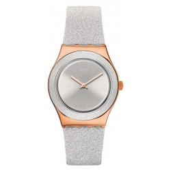 Swatch Women's Watch Irony Medium Grey Sparkle YLG145