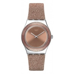 Swatch Women's Watch Irony Medium Rose Sparkle YLS220