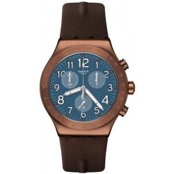 Swatch Men's Watch Irony Chrono Back To Copper YVC100