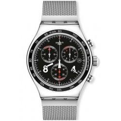 Swatch Men's Watch Irony Chrono Blackie YVS401G
