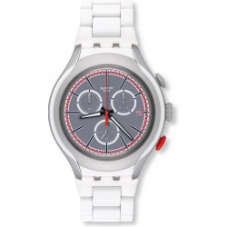 Swatch Men's Watch Irony Xlite White Attack YYS4019AG Chronograph